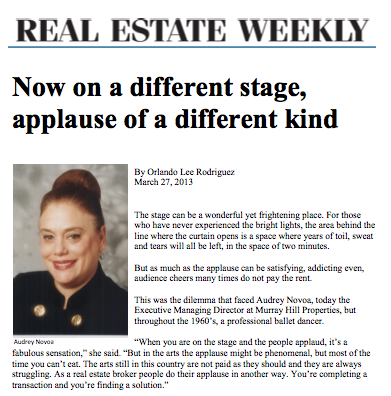 Audrey Novoa featured in Real Estate Weekly